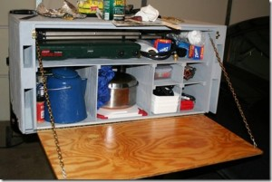 This is a good example of a Camp Kitchen or Chuck box