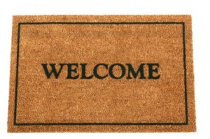 Door Mat that says Welcome