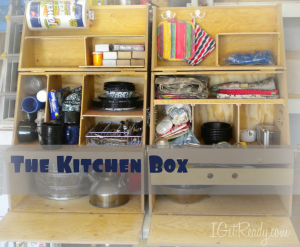 Image of a kitchen box for camping or evacuation