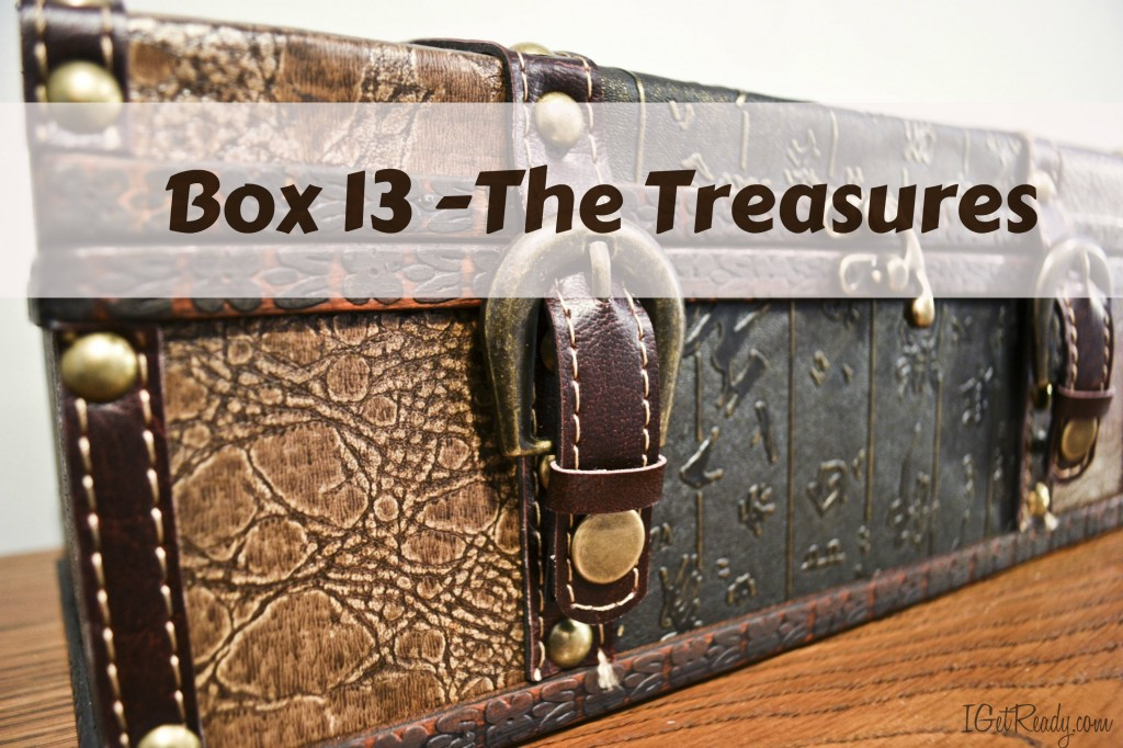 Treasure box for all the special things you'd take if you had to evacuate