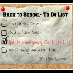 Back to school and Emergency contacts